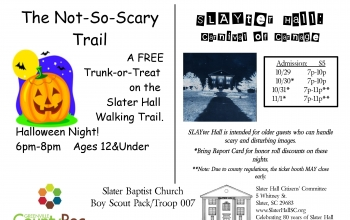 Tonight: Halloween events for all ages at Slater Hall