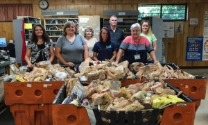Northern Greenville County postal employees collect more than one ton of food