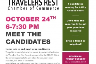 10/24/17 (Tuesday) - Rocket Surgery: Meet the Travelers Rest Candidates