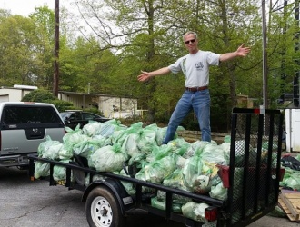 Volunteers collect more than 3,300 pounds of trash at annual cleanup event