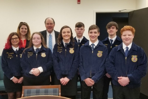 Pictured: Travelers Rest FFA members visit Columbia