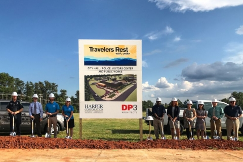 Travelers Rest officials hold groundbreaking ceremony for new city hall, police department