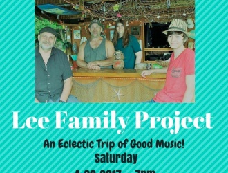 04/29/17 (Sat.) - Whistle Stop at the American Cafe: Live Music on the Roof w/ the Lee Family Project (7 pm - 9:30 pm)