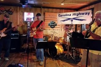 08/18/17 (Friday) - Whistle Stop at the American Cafe: Live Music on the Roof w/ the Carolina Highway Band