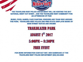 08/01/17 (Tuesday) - Trailblazer Park: National Night Out (5 p.m. - 8:30 p.m.)