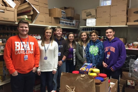 Travelers Rest High School Student Council collects more than 6,400 cans, boxes of food