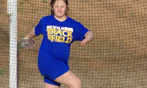 Lady Devildog discus team claims three spots at track & field championships